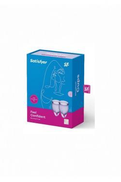 Набор менструальных чаш Satisfyer Feel confident Menstrual Cup (Lila)