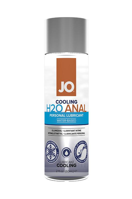 Анальный охлаждающий любрикант на водной основе / JO Anal H2O Cool 2oz - 60 мл.