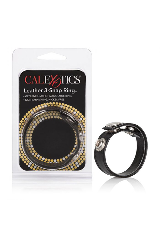 Leather 3-Snap Ring™ - Black
